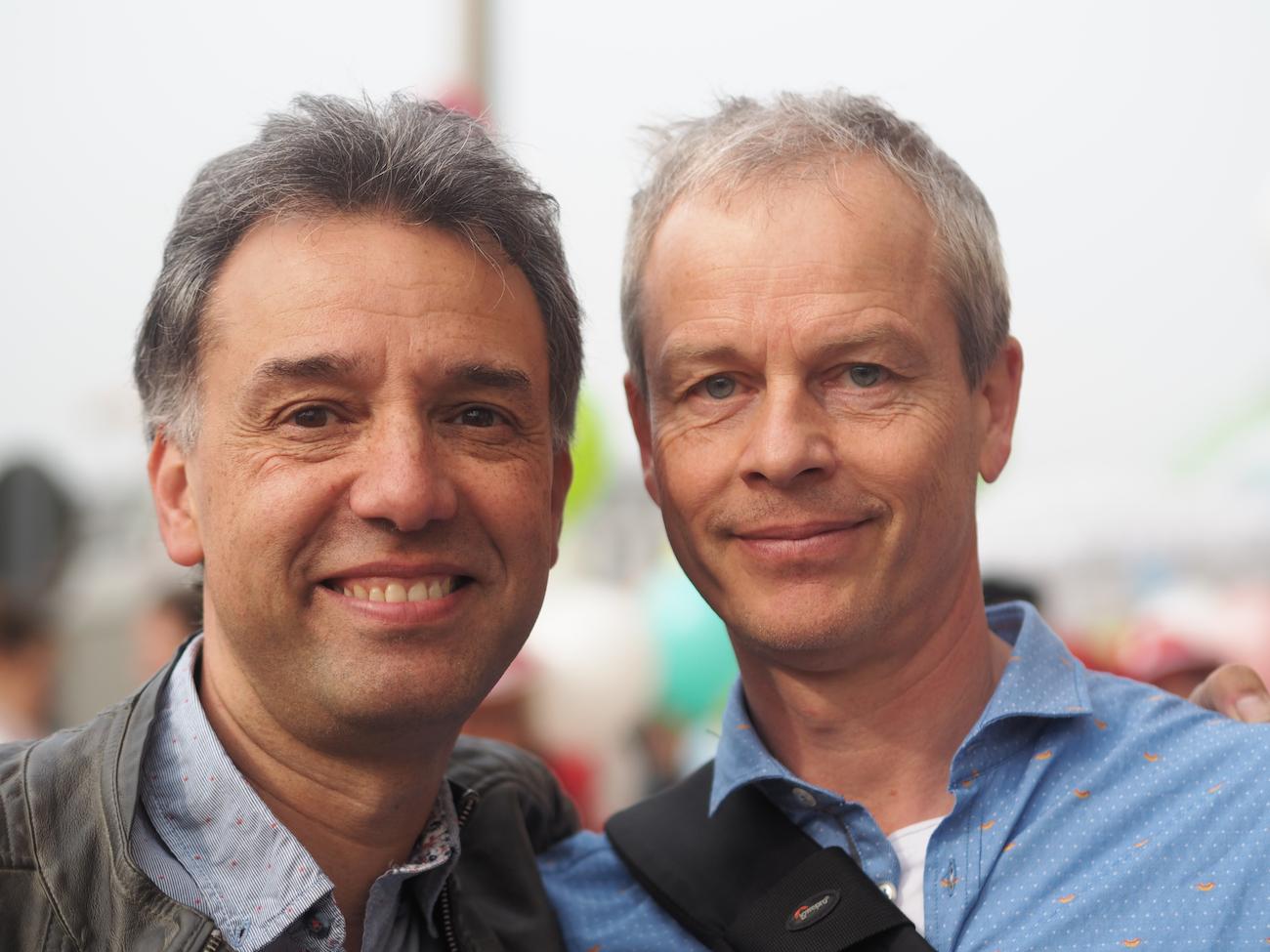 Nikolai Kreinhöfer (l.) und Jörg Wolter von Konfetti im Kopf
